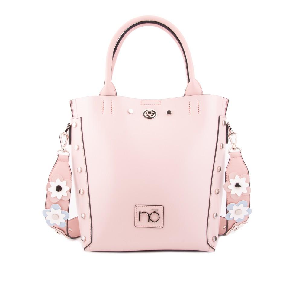 Růžová stylová elegantní dámská kabelka Reviel