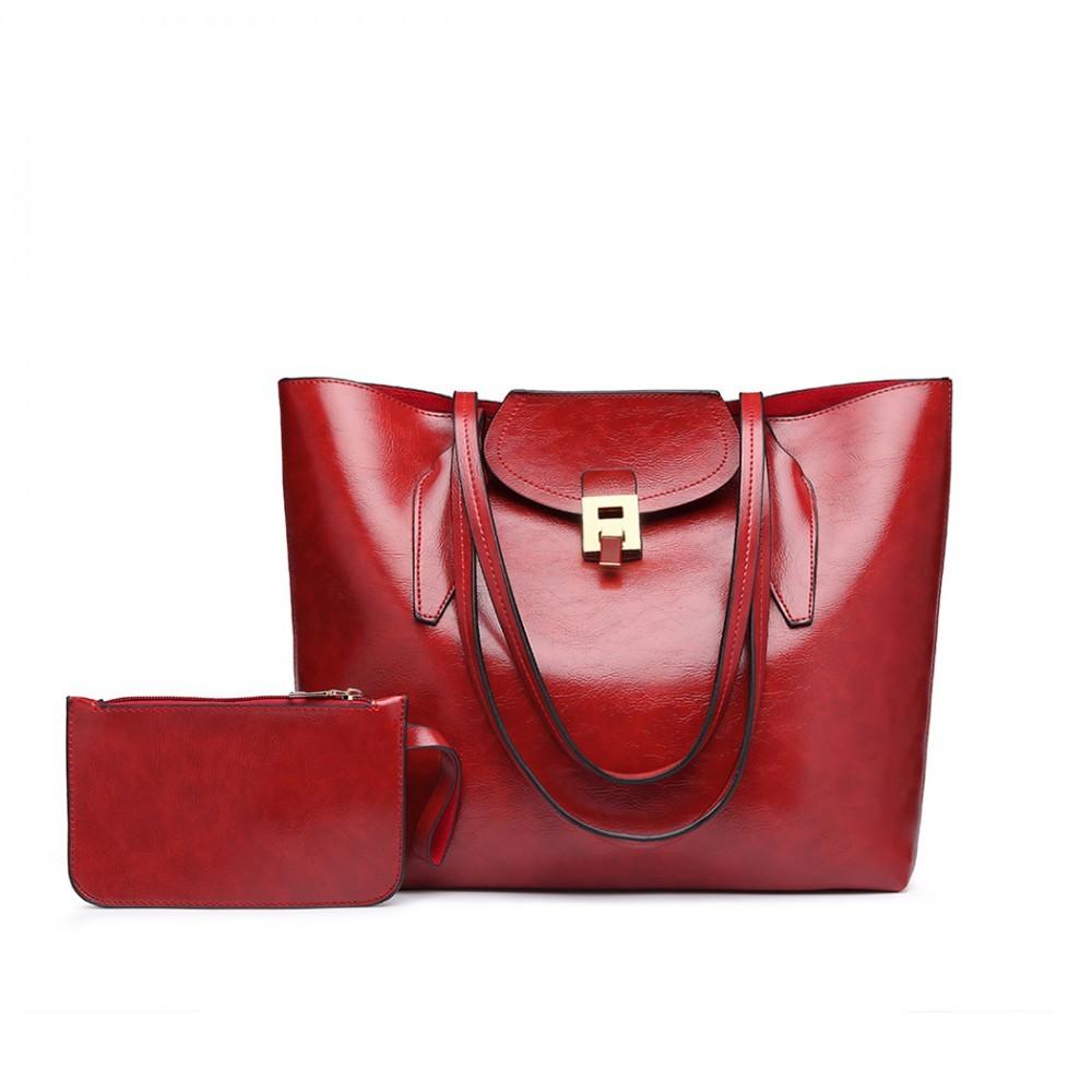 416b77f886 Červená dámská luxusní kabelka 2v1 Terren