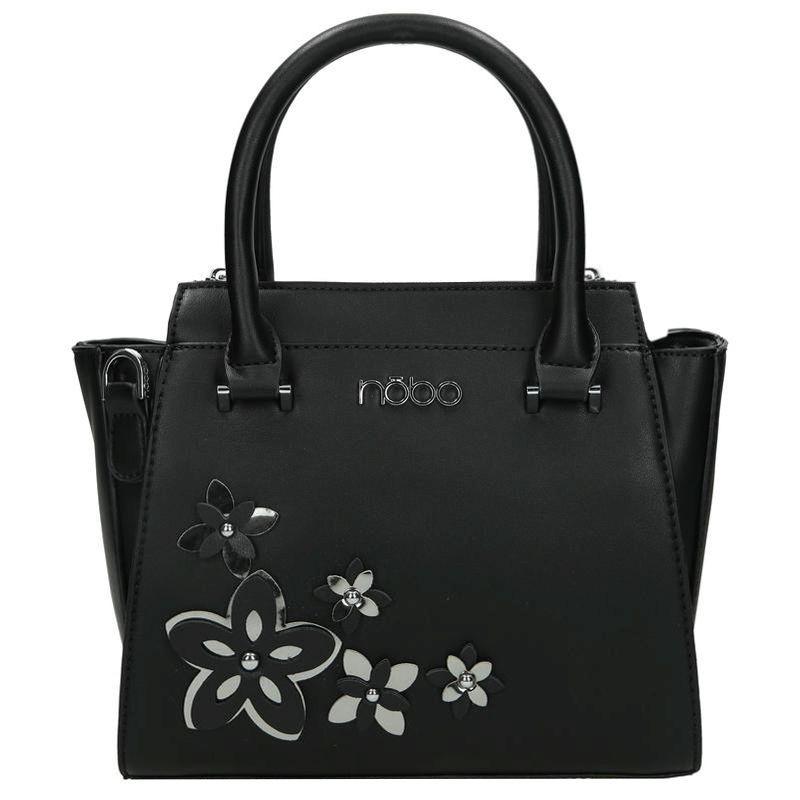 17861816d1 Černá dámská květinová kabelka do ruky Relnie