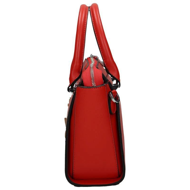 1851c8dfdc Červená dámská květinová kabelka do ruky Relnie