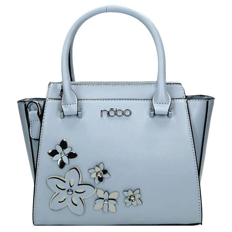 8c5d87a80c Světle modrá dámská květinová kabelka do ruky Relnie