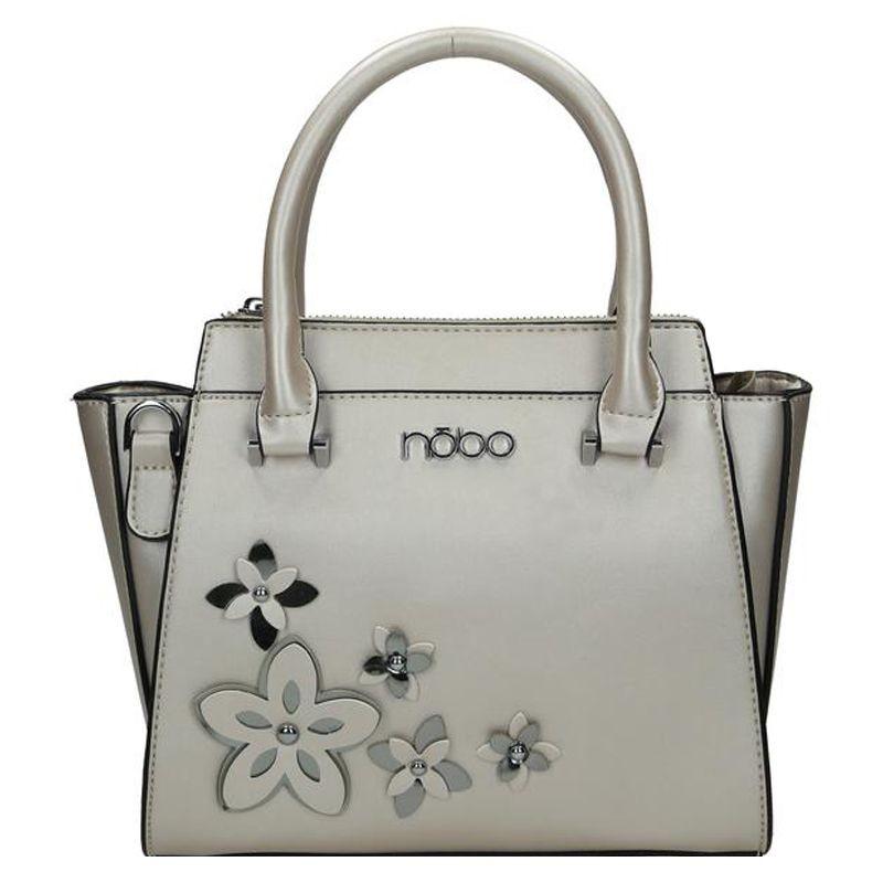 e40d7280bf Stříbrná dámská květinová kabelka do ruky Relnie