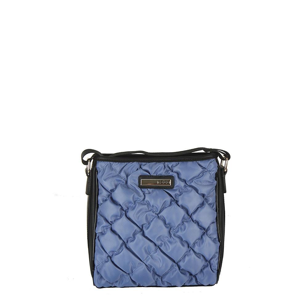 Modrá dámská prošívaná stylová crossbody kabelka Celien
