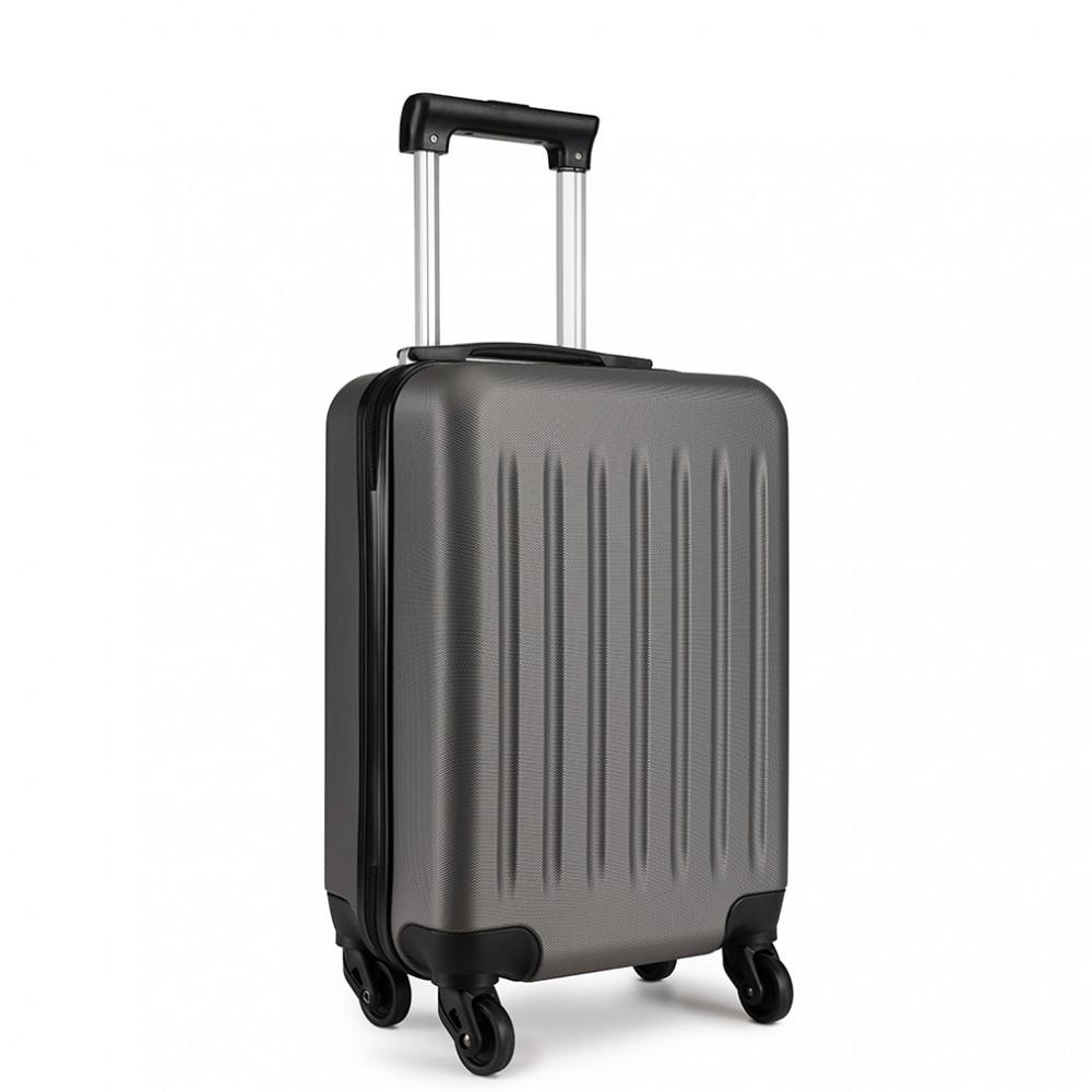 Šedý cestovní kvalitní prostorný malý kufr Bartie