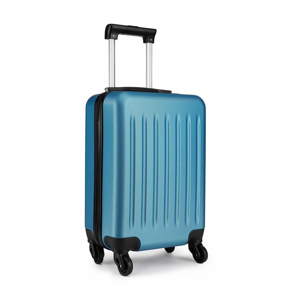 Modrý cestovní kvalitní prostorný malý kufr Bartie
