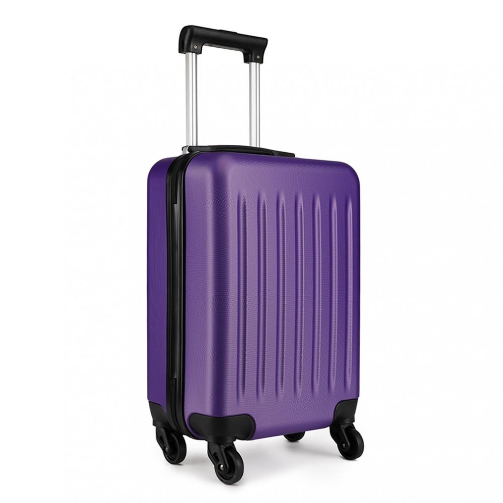Fialový cestovní kvalitní prostorný malý kufr Bartie