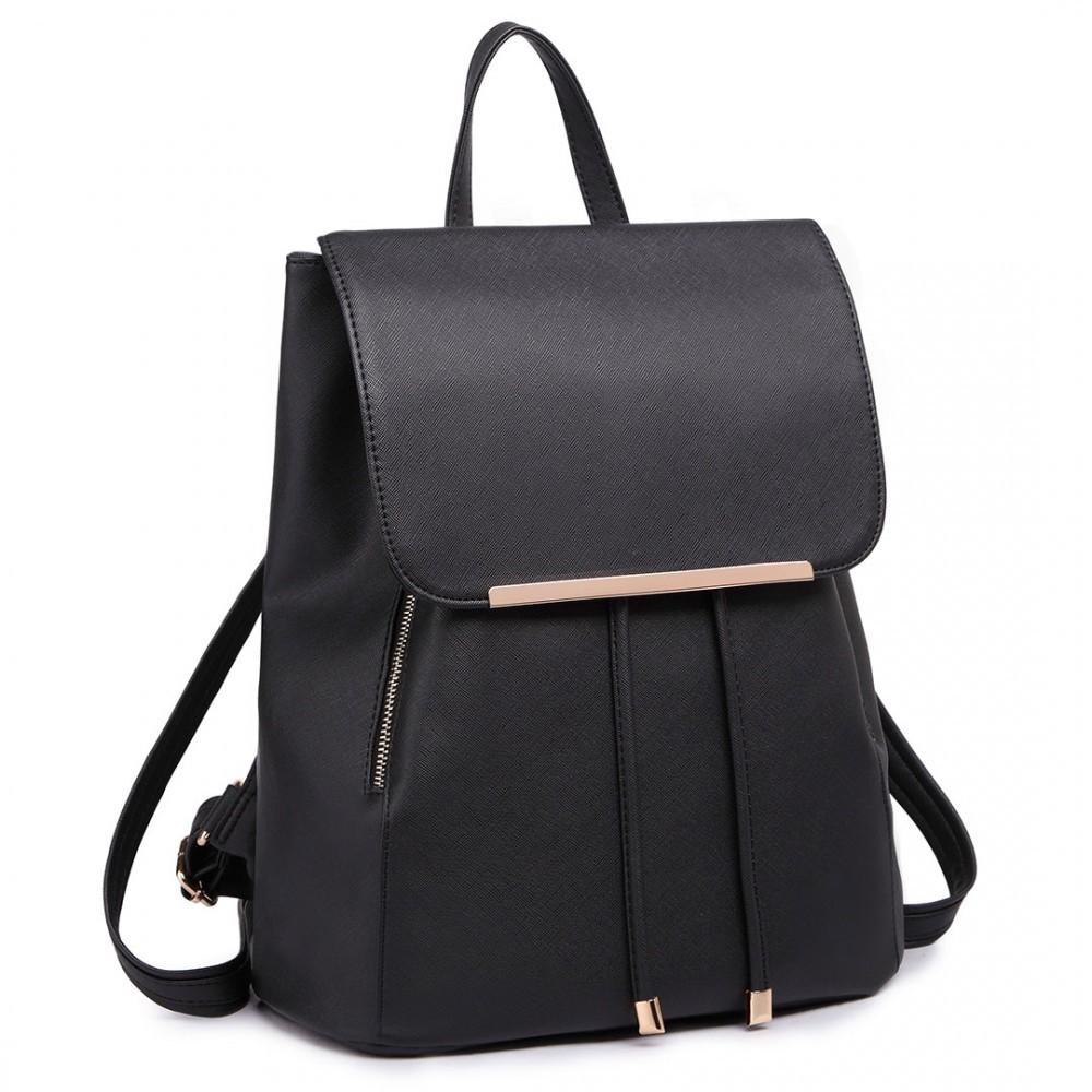 Černý stylový dámský modní batoh Frell