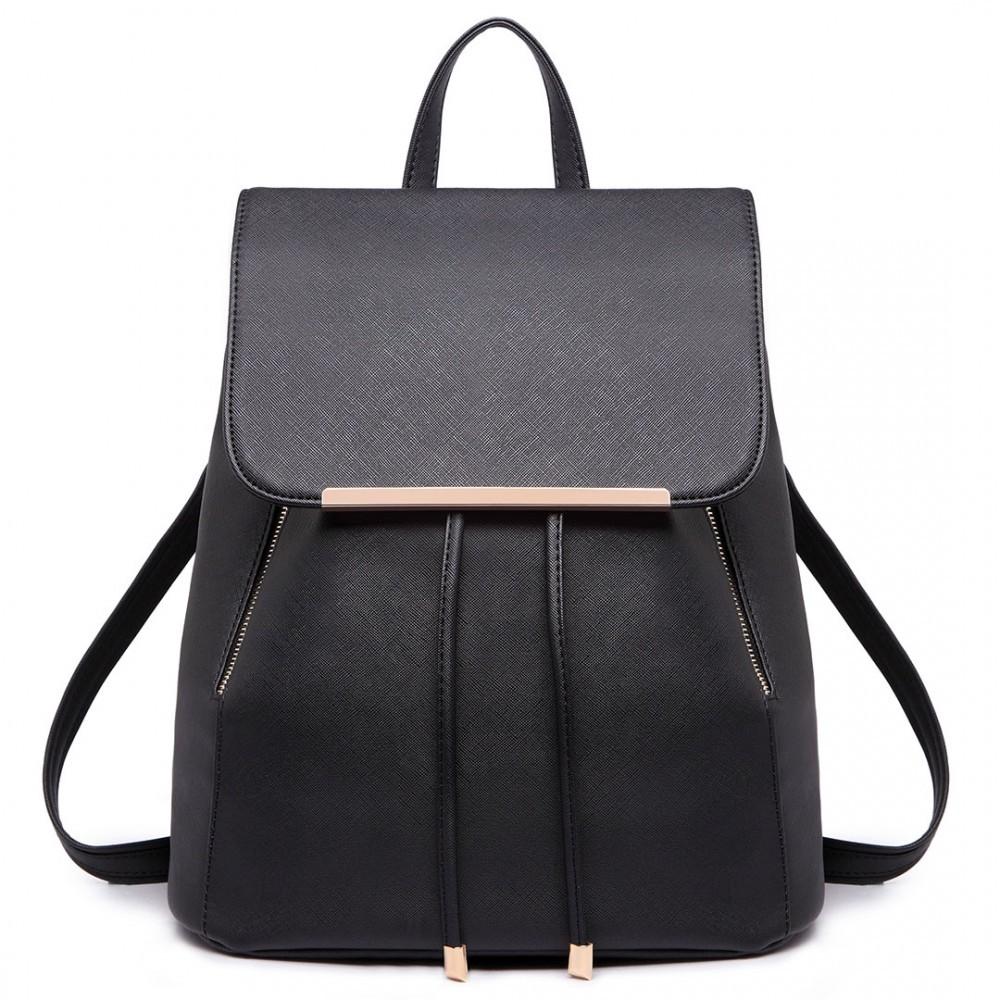 Černý stylový dámský modní batoh Frell 6c7f43587d