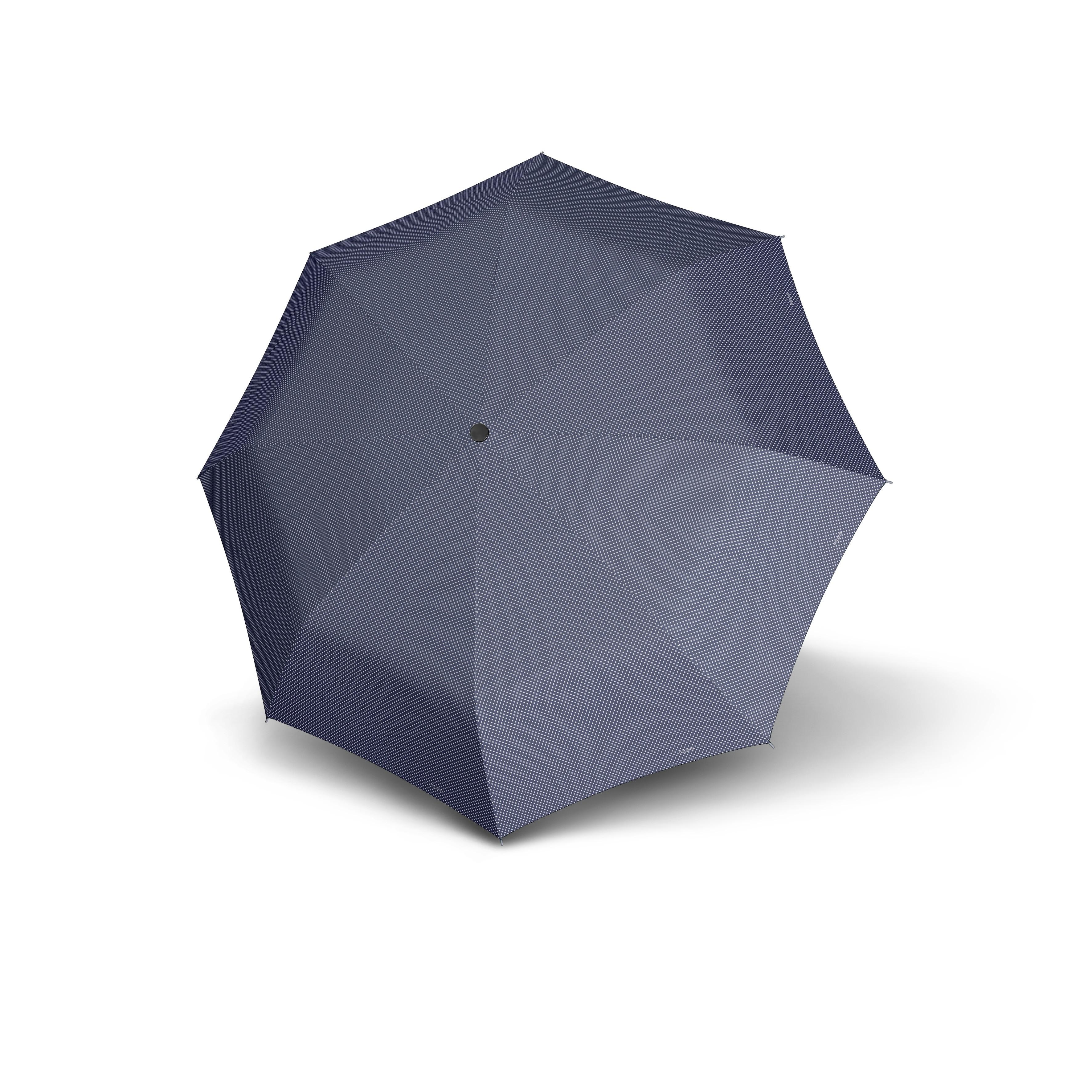 Modrý skládací mechanický dámský deštník Bruan