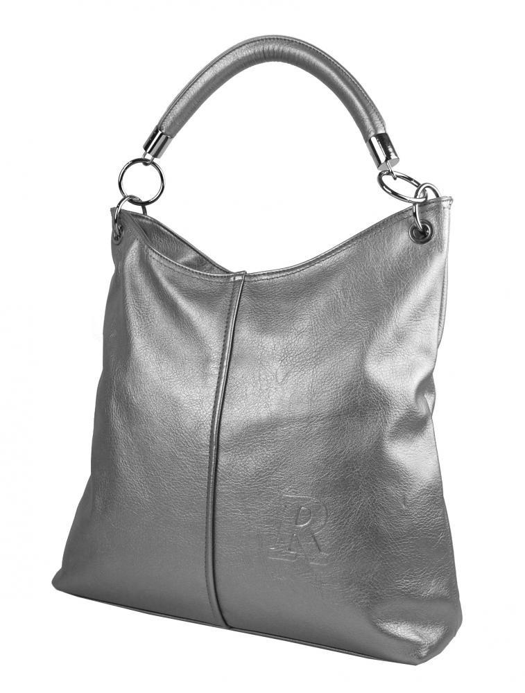 2377eac814a Stříbrná moderní velká kabelka přes rameno Nathali