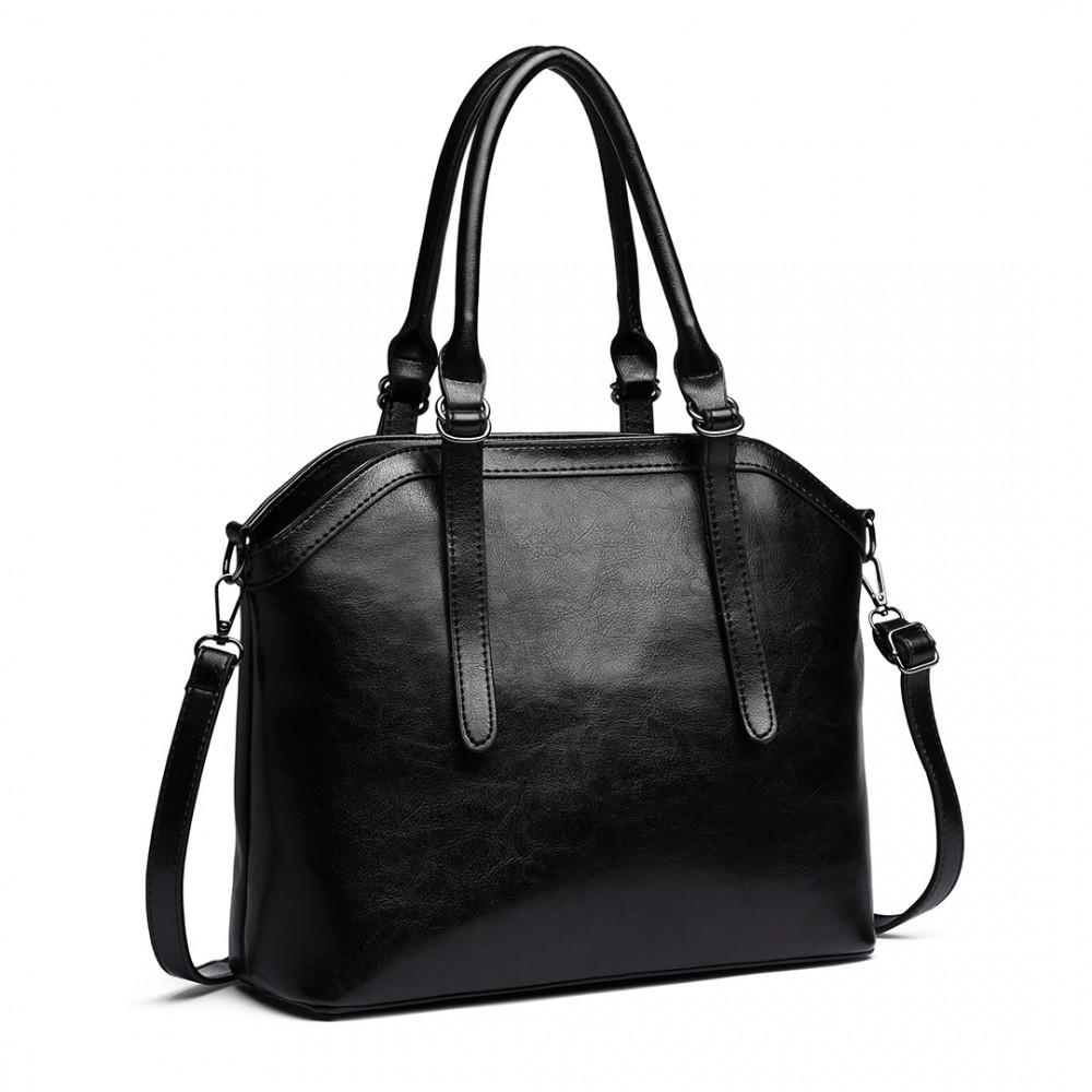 Černá moderní elegantní dámská kabelka Formiel