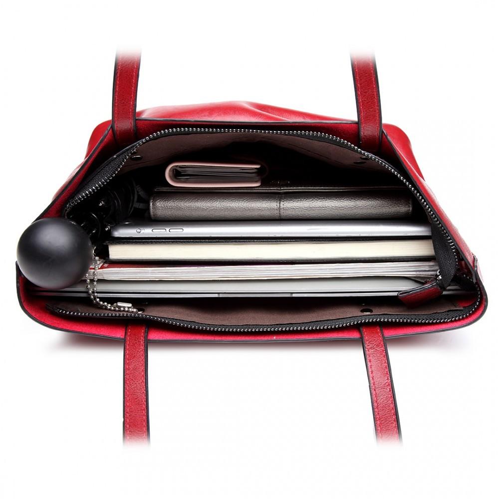 Tmavě červená dámská přehledná kabelka Braslen