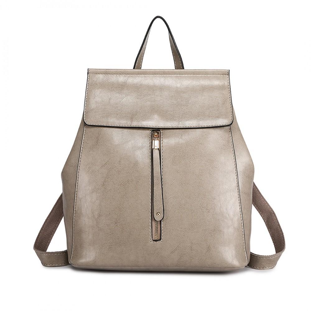 b69e4f401f Šedý dámský stylový batoh Jillen