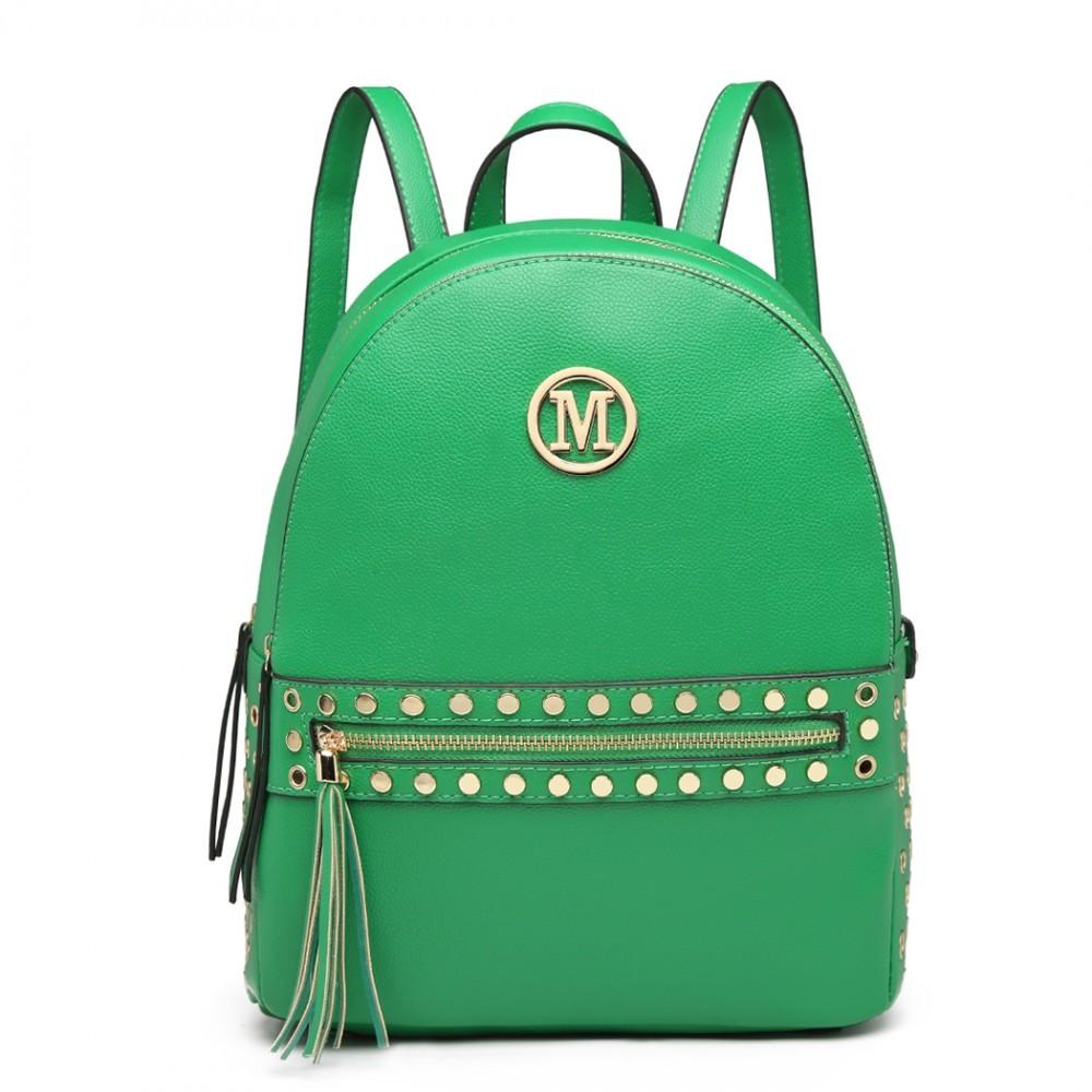 Zelený dámský moderní stylový batoh Advie