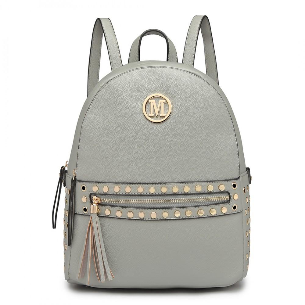 Šedý dámský moderní stylový batoh Advie
