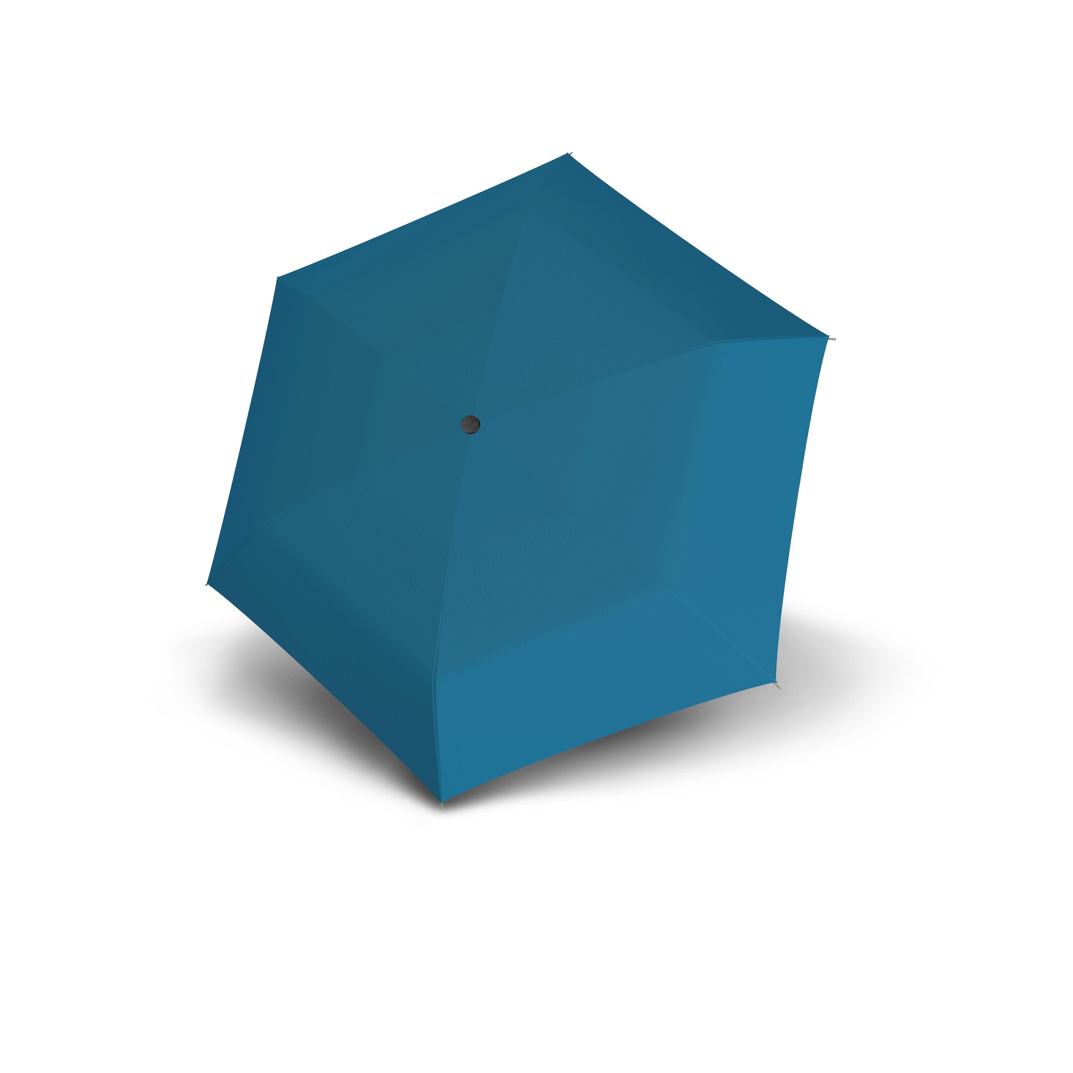 Modrý dámský/dětský lehký skládací deštník Zero