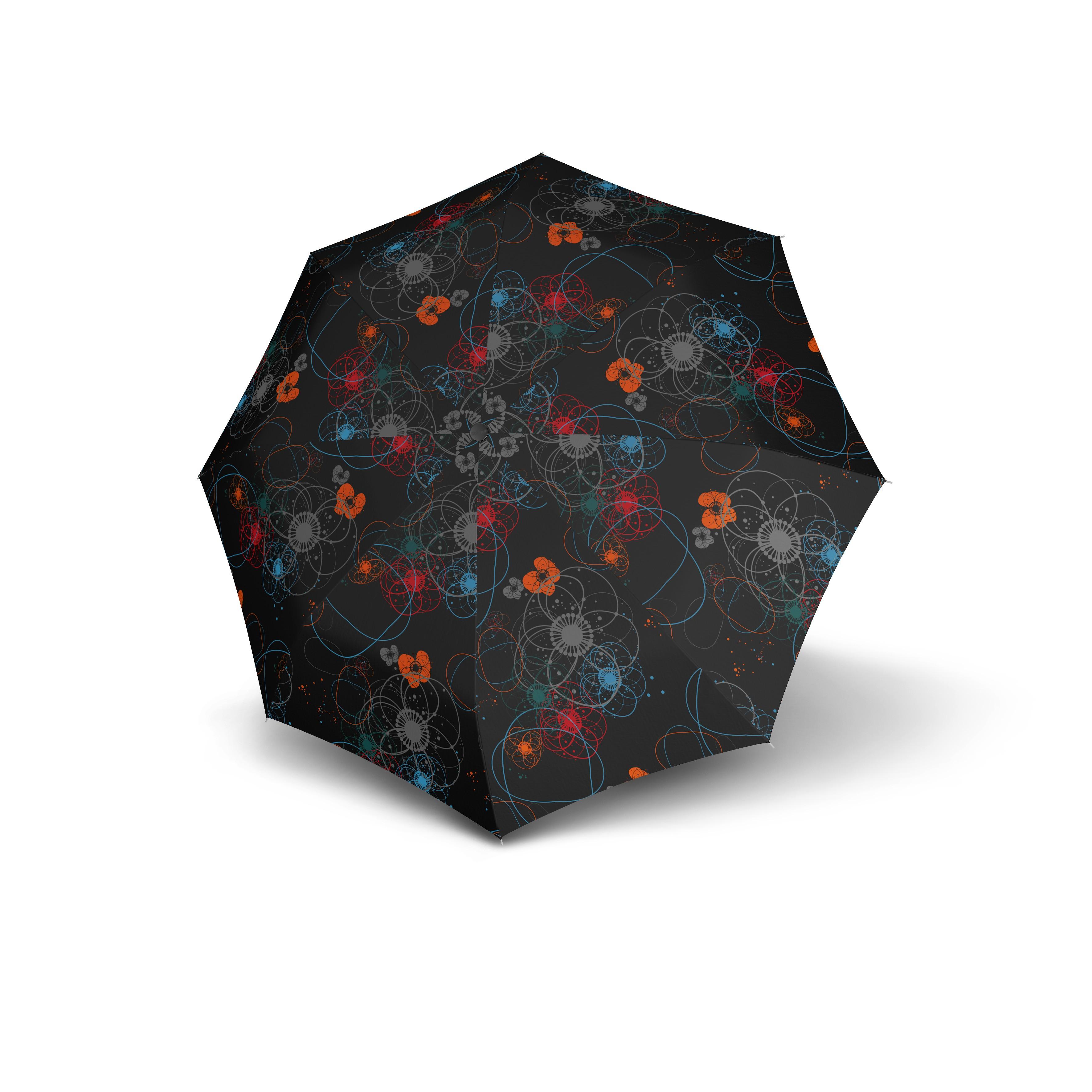 Černý skladací automatický dámský deštník Aymar