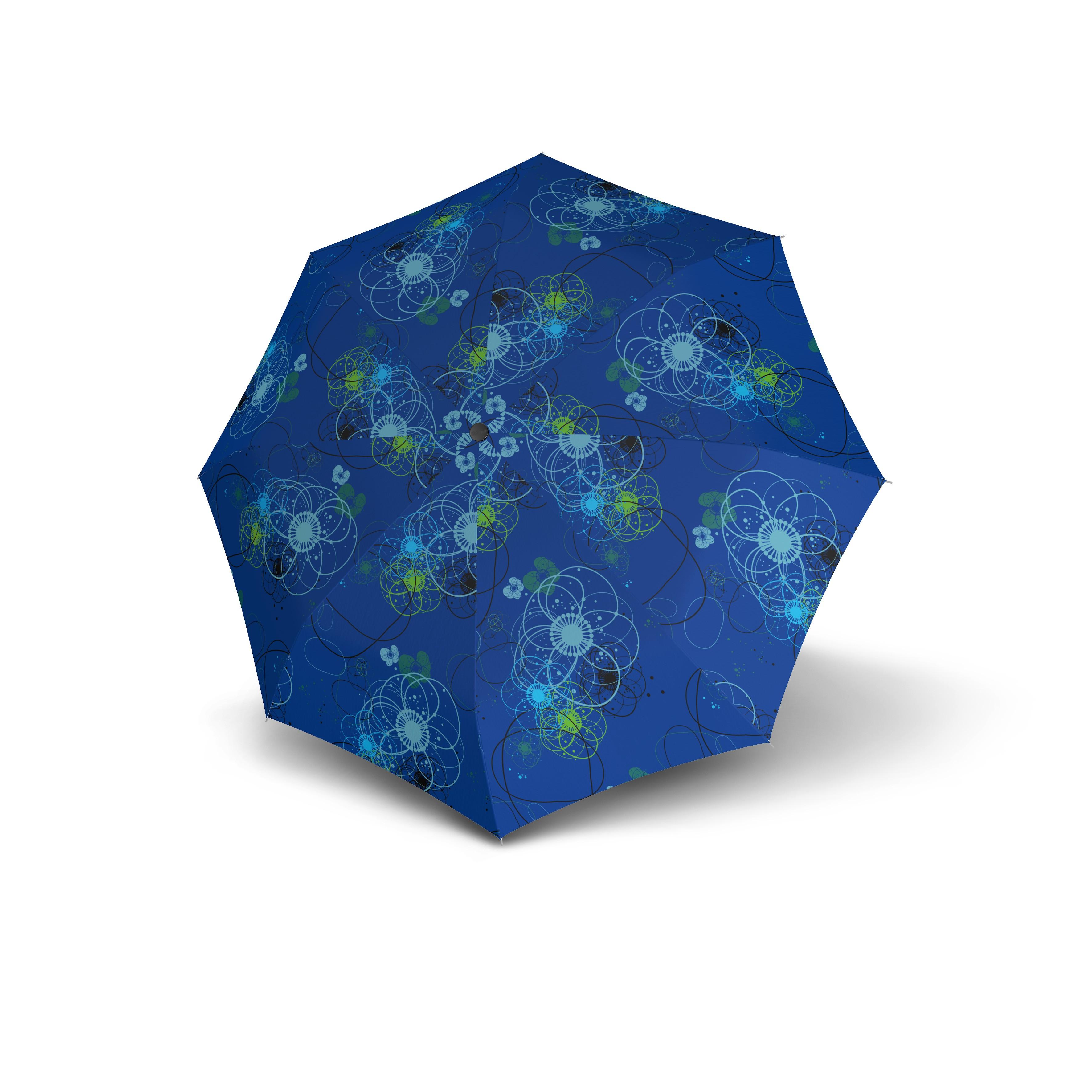 Modrý skladací automatický dámský deštník Aymar