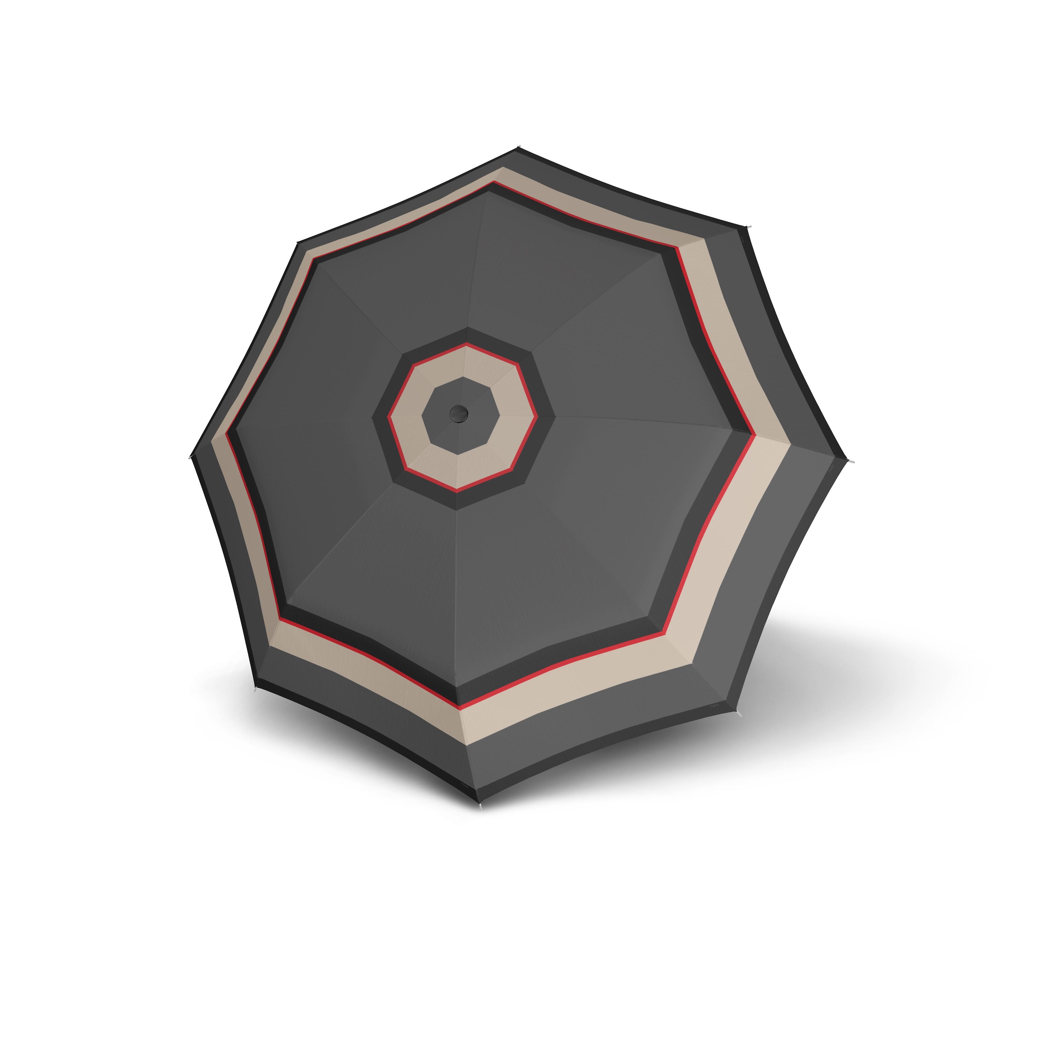 Šedý skládací automatický dámský deštník Luana