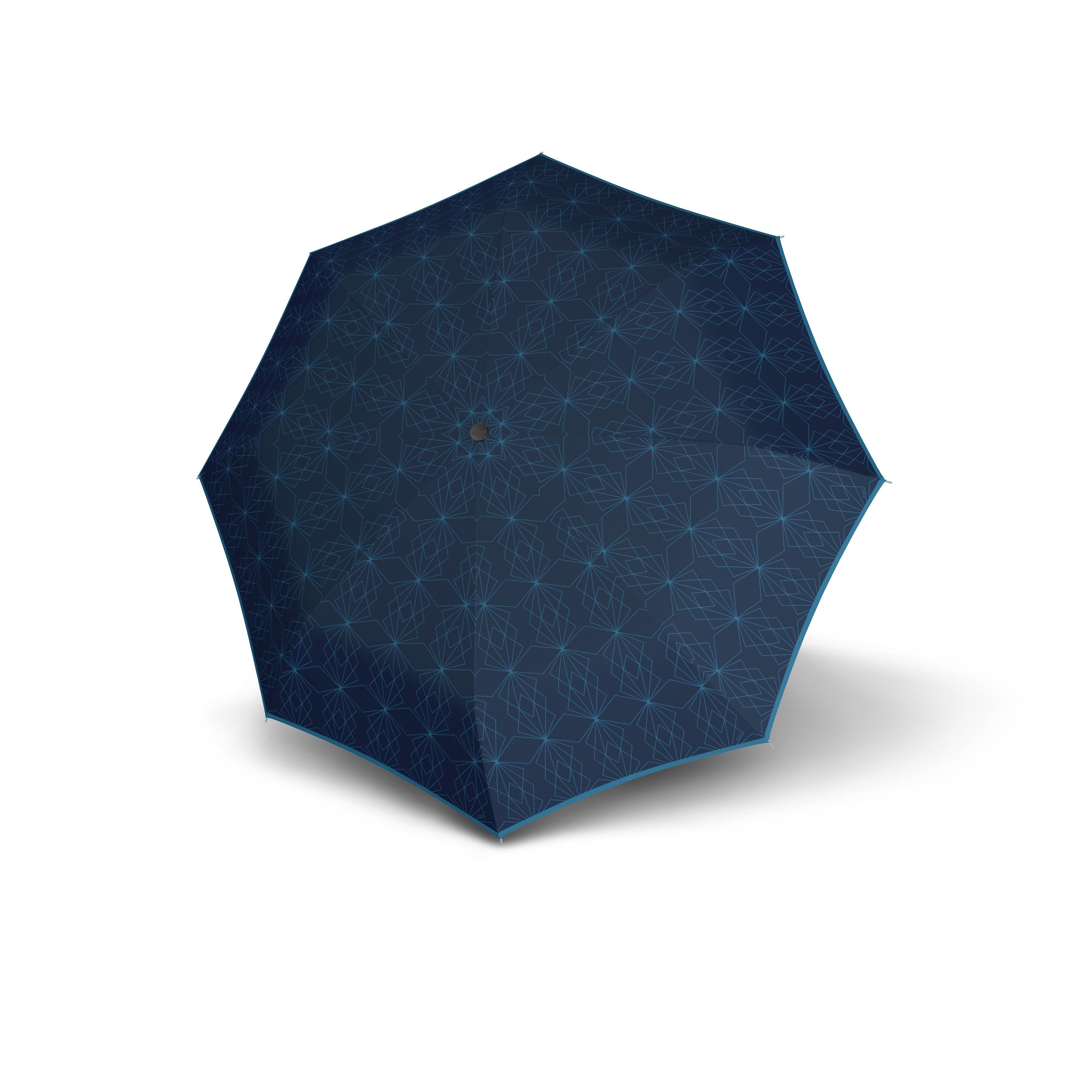 Modrý dámský mechanický skládací deštník Divou