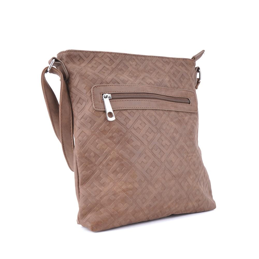 Tmavá khaki stylová dámská crossbody kabelka s ornamenty Haimel 2ee0ac0452b