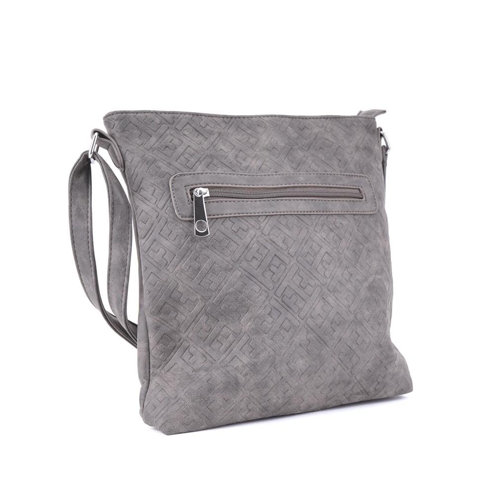 92df03aca4 Tmavě šedá stylová dámská crossbody kabelka s ornamenty Haimel