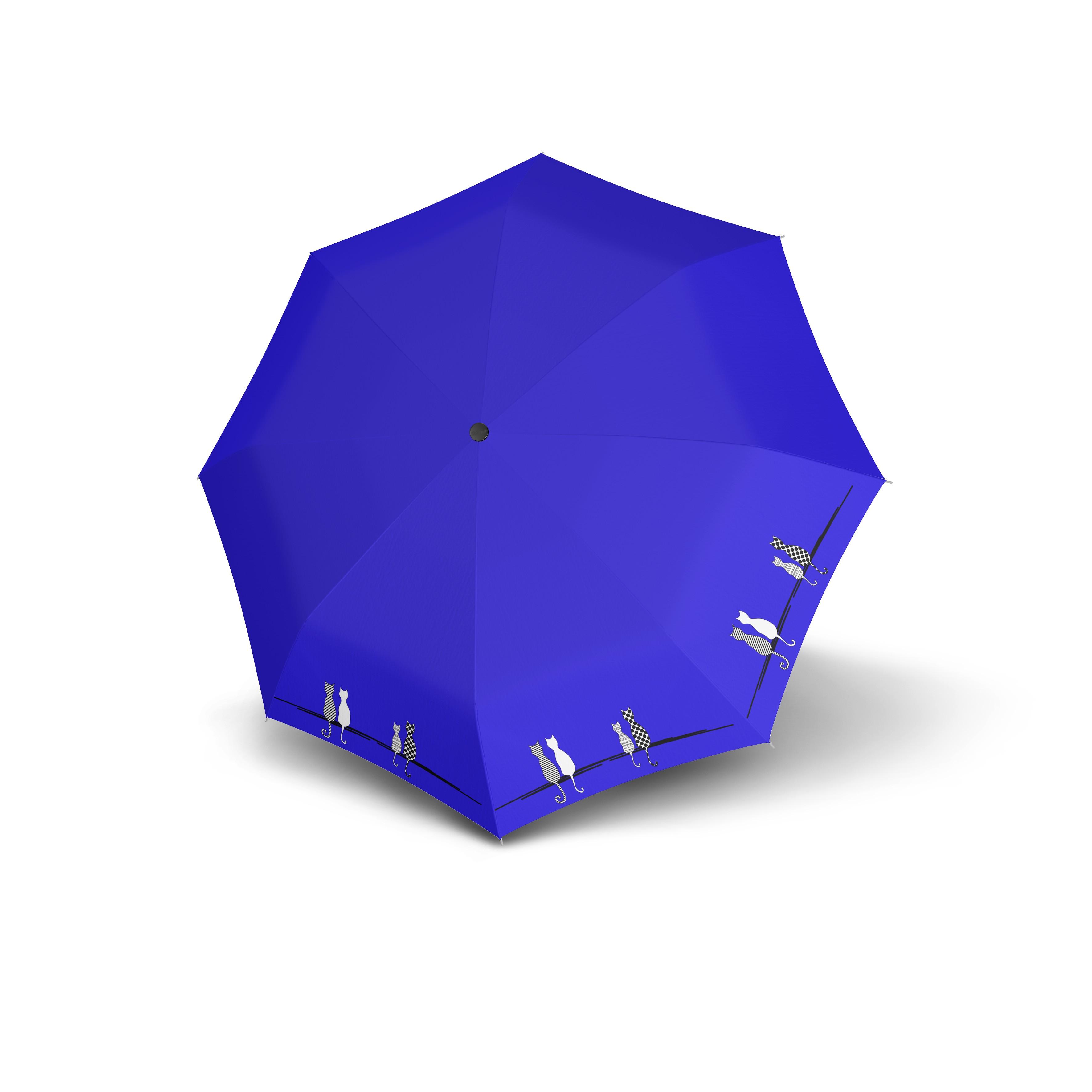 Modrý skládací automatický dámský deštník Deyen