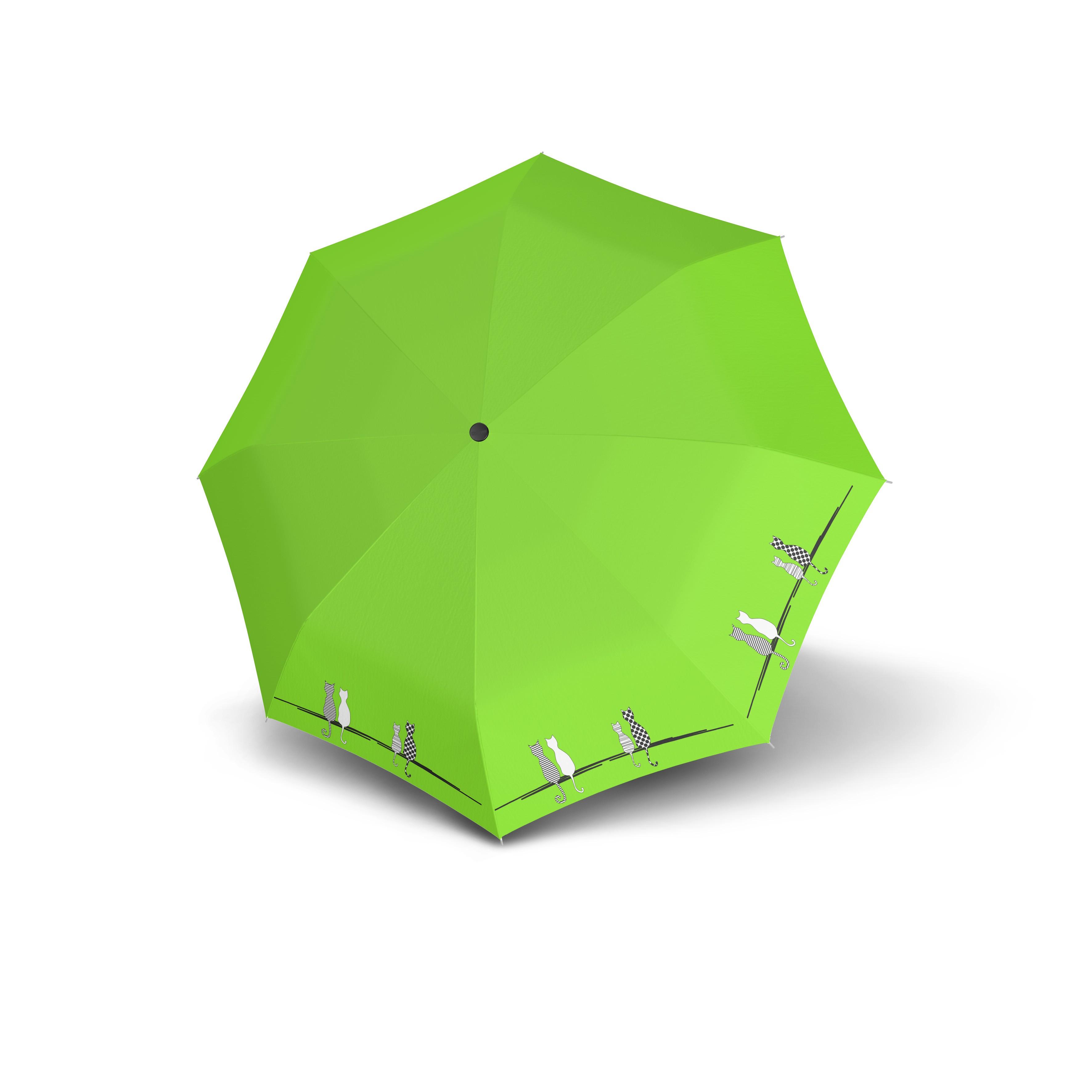 Zelený skládací automatický dámský deštník Deyen