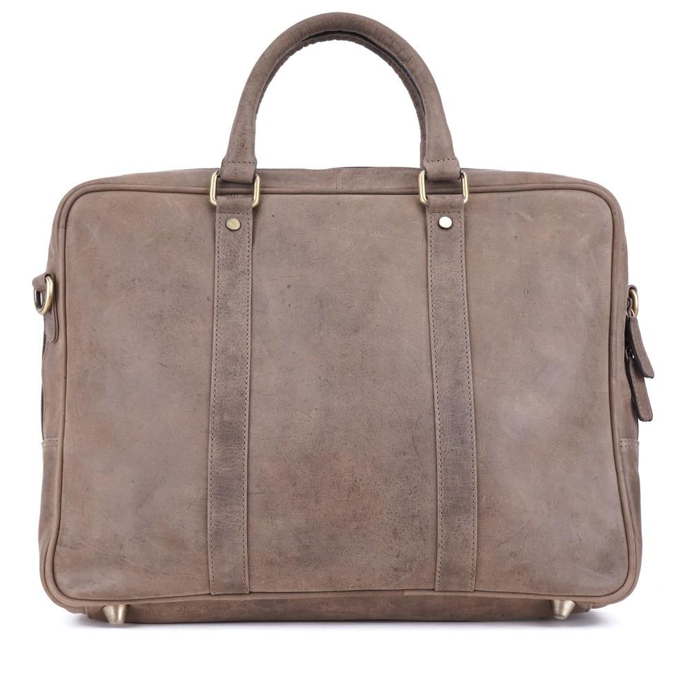 a8eb19a3d9 Šedá kožená pánská taška s kapsou na notebook Viniciel