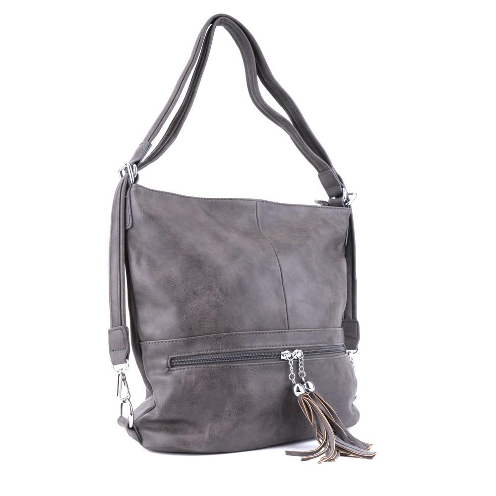 6746011e2e Šedá dámská kombinace crossbody kabelky a batohu Sestie