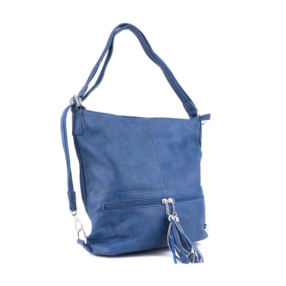 6f395f779 Modrá dámská kombinace crossbody kabelky a batohu Sestie