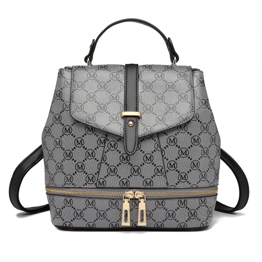 Šedo černý stylový dámský batoh Brachie fa8ddb1e1a