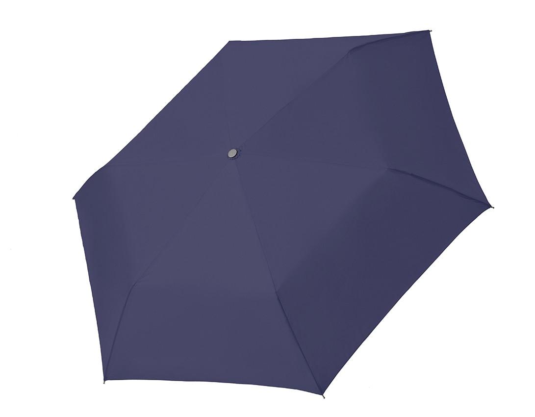 Modrý dámský ultralehký skládací mechanický deštník Zasten