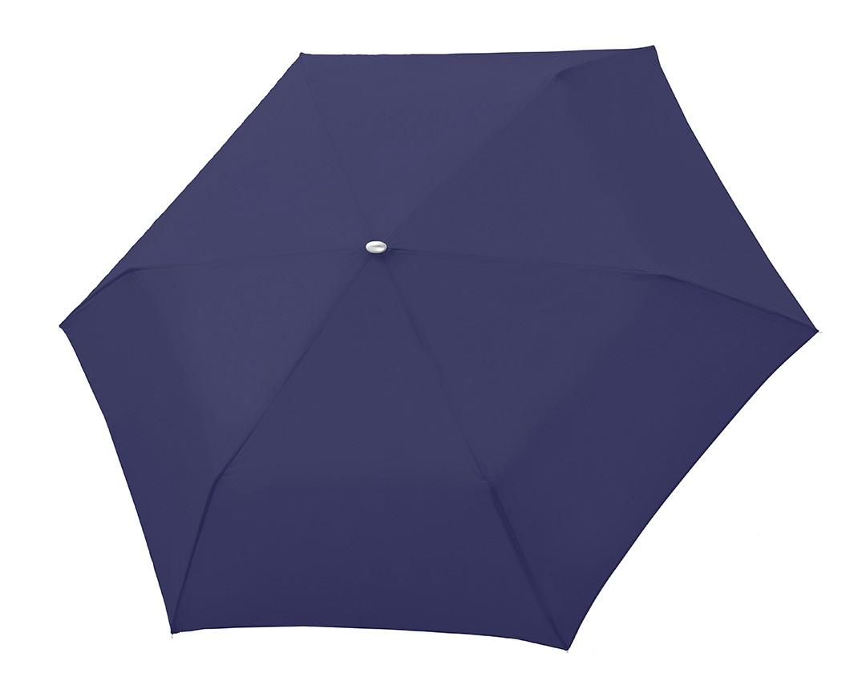 Modrý skládací mechanický elegantní dámský deštník Omnie
