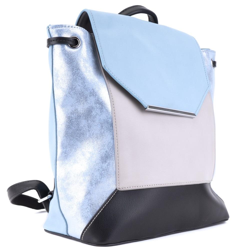 Modrý velmi originální barevný moderní dámský batoh Rozsien 674e0984a5