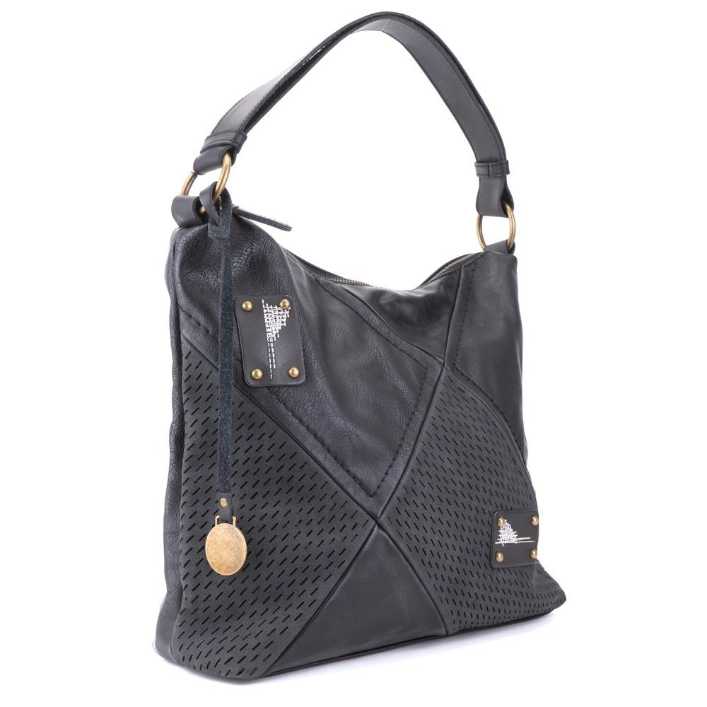 Černá stylová elegantní dámská kabelka přes rameno Landie