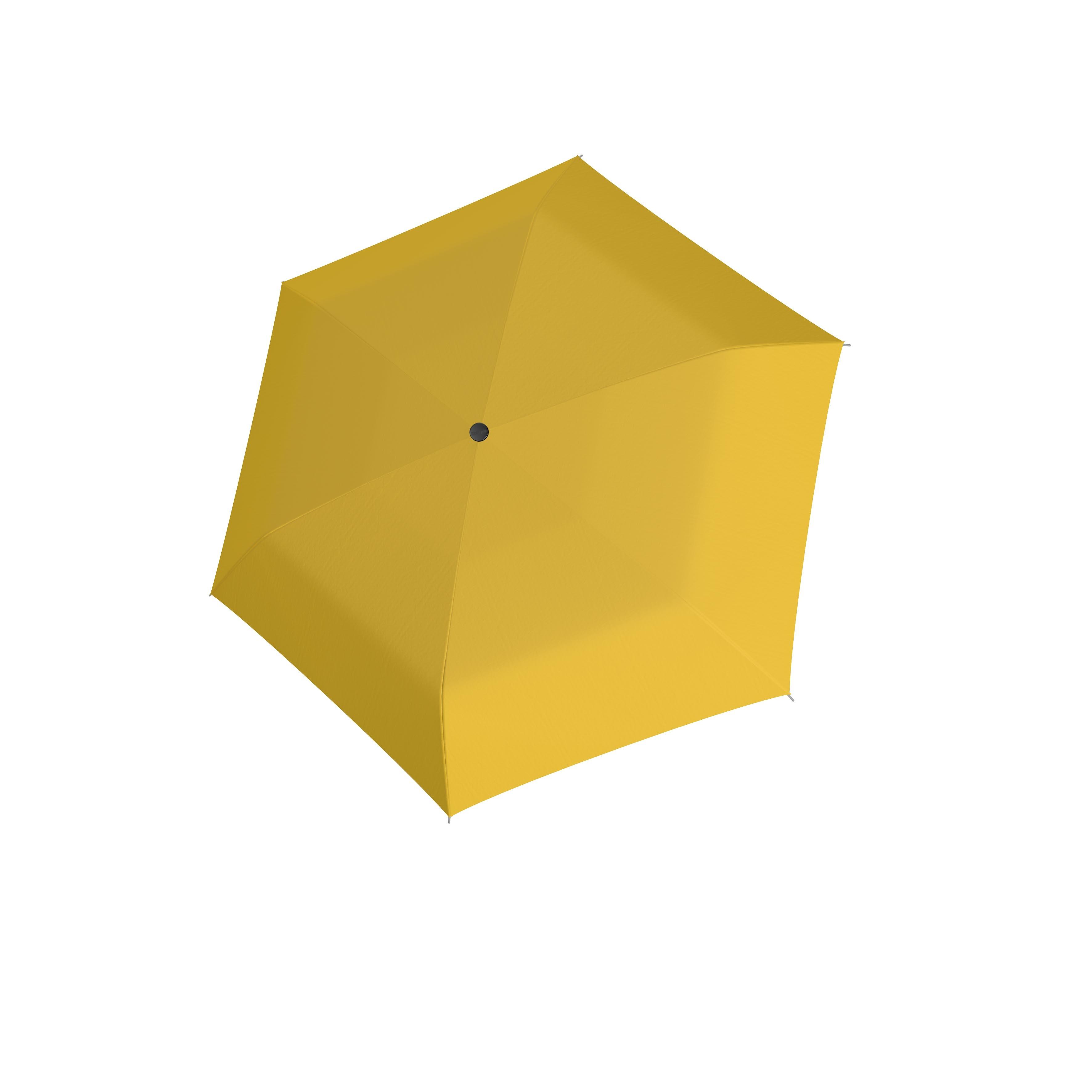 Žlutý dámský i dětský skládací mechanický deštník Aline
