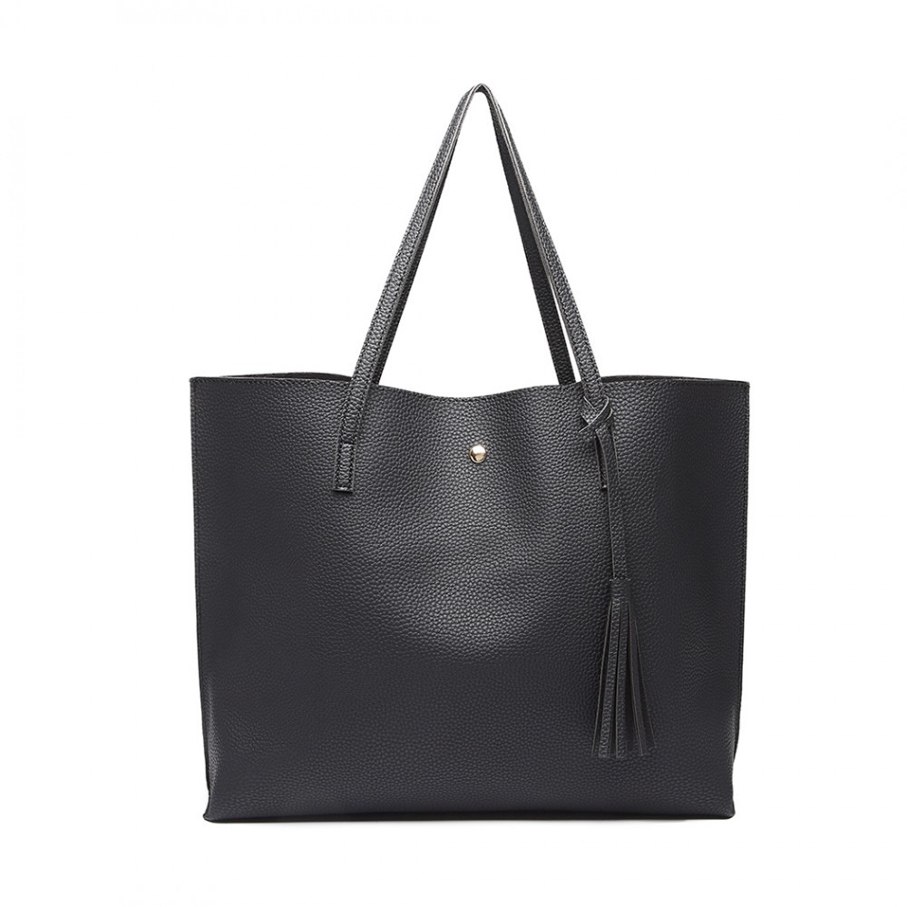 Černá dámská elegantní kabelka pro formáty A4 Miss Aara