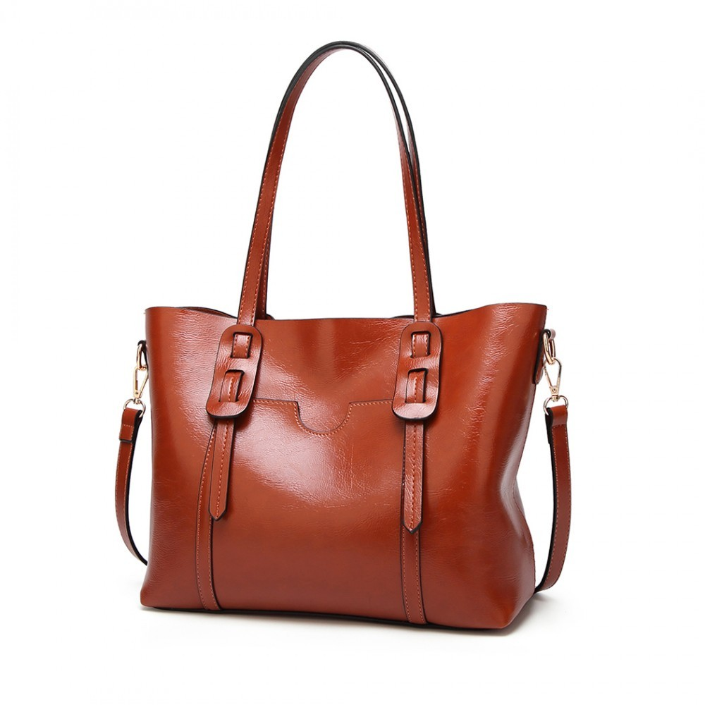 Hnědá dámská luxusní kabelka Laura