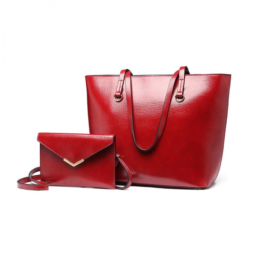 8773a22912 Vínová dámská luxusní kabelka 2v1 Diana