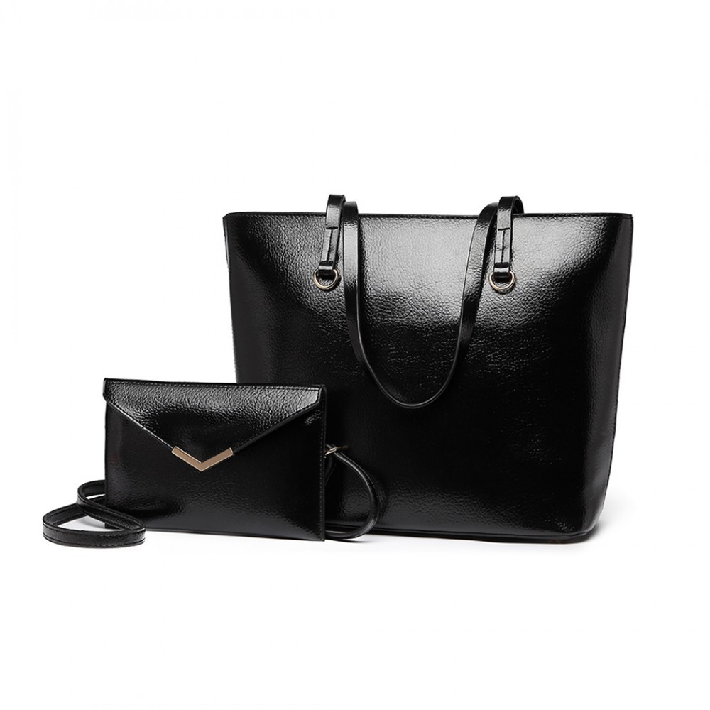 c729e60be8 Černá dámská luxusní kabelka 2v1 Diana