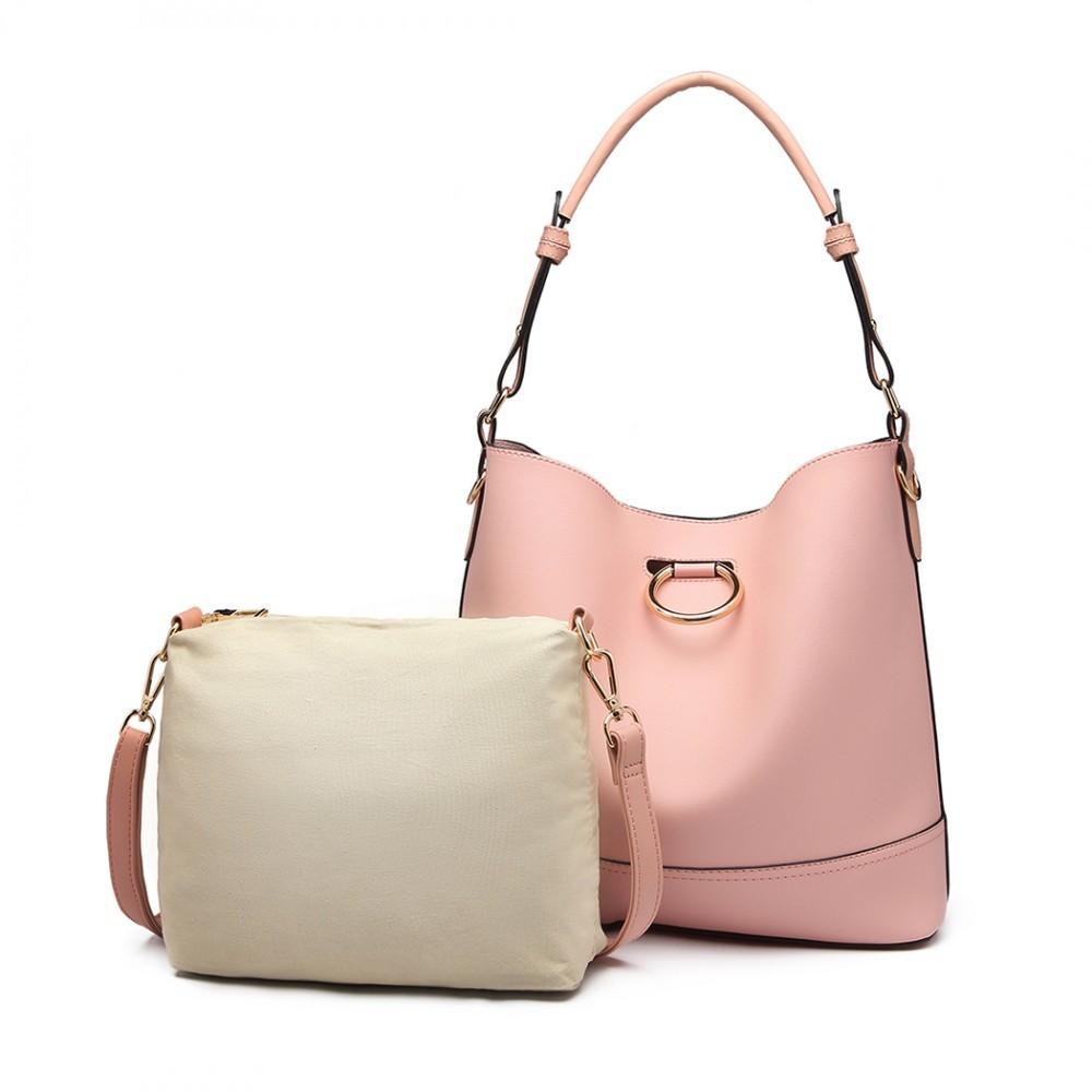 1fea46d1ec Růžová dámská moderní kabelka 2v1 Camila