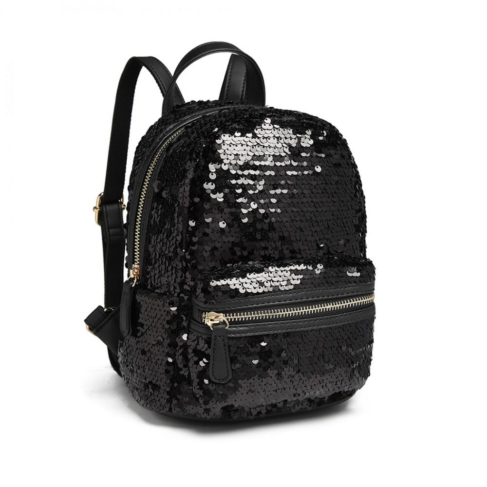 67a22aa115 Černý flitrový dámský batoh Emma