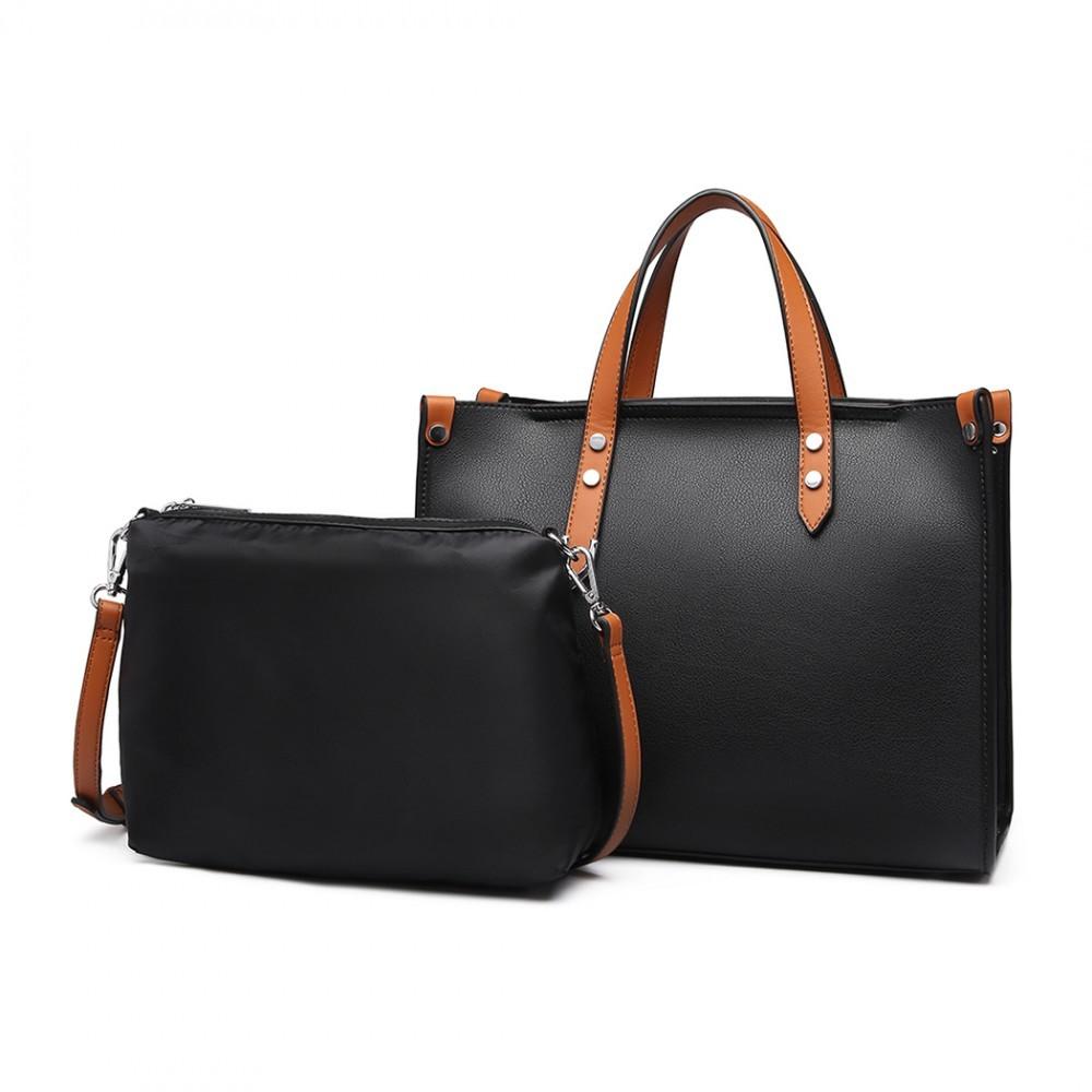 Černá dámská elegantní kabelka 2v1 Afea
