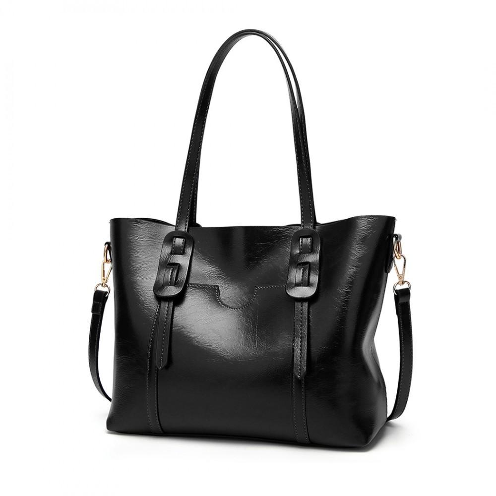 Černá dámská luxusní kabelka Laura