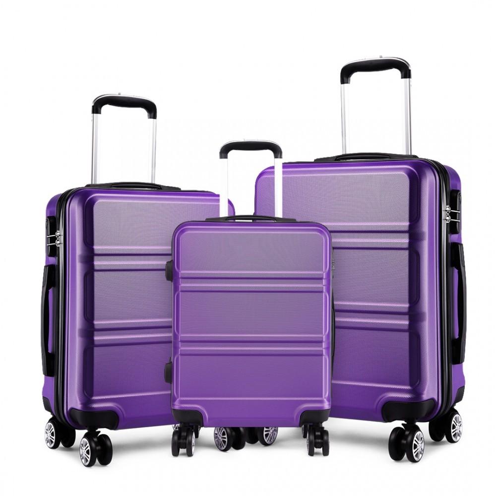 Fialový cestovní kvalitní set kufrů 3v1 Perfei