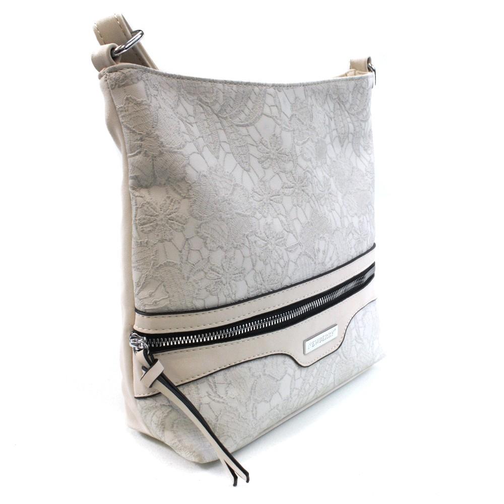 2a92068e23 Světle šedá atraktivní dámská crossbody kabelka Adham