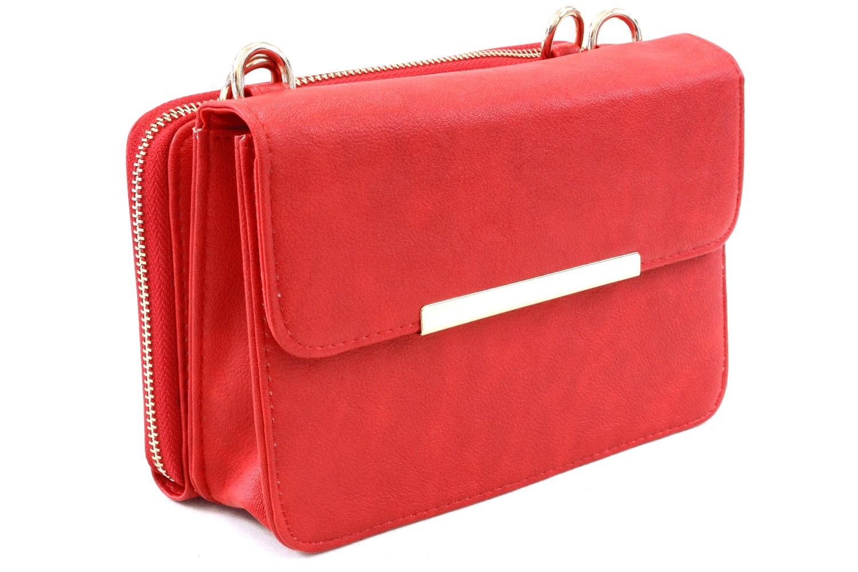 40b702b379 Červená malá luxusní kabelka spojená s peněženkou 2v1 Albien