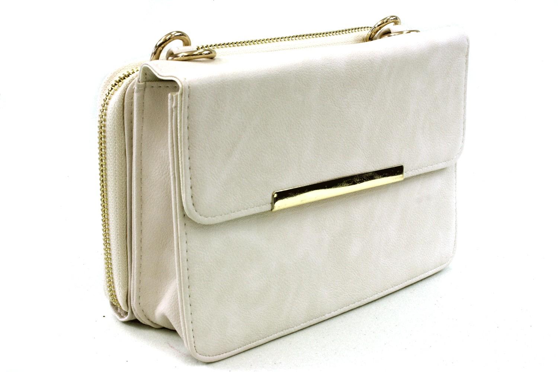 cecd5565d2 Béžová malá luxusní kabelka spojená s peněženkou 2v1 Albien