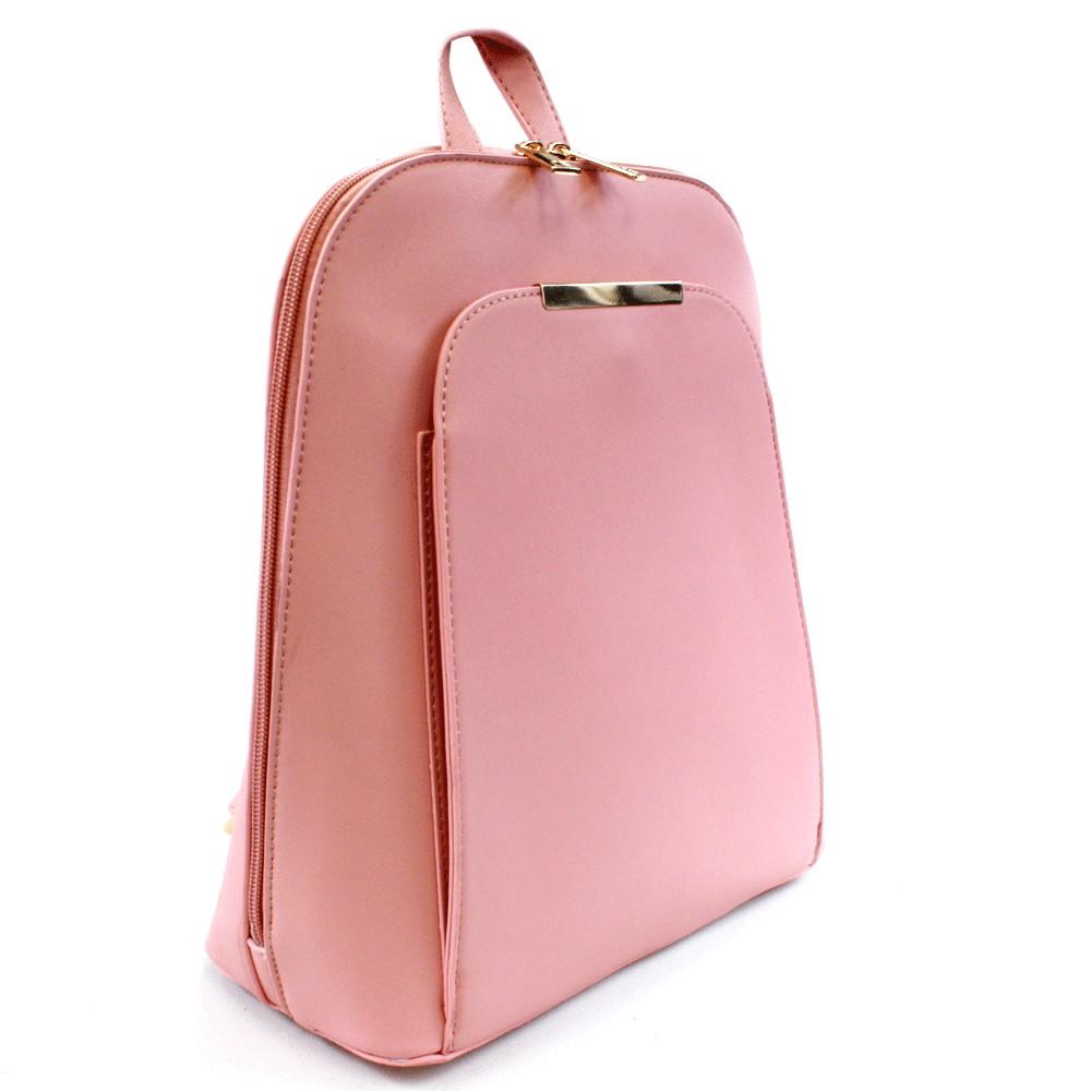 Růžový praktický dámský batoh Proten